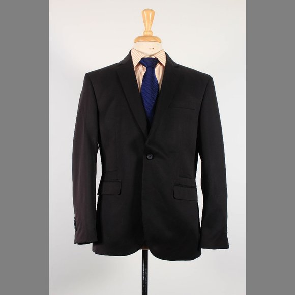 Kenneth Cole 40S Black Sport Coat G346